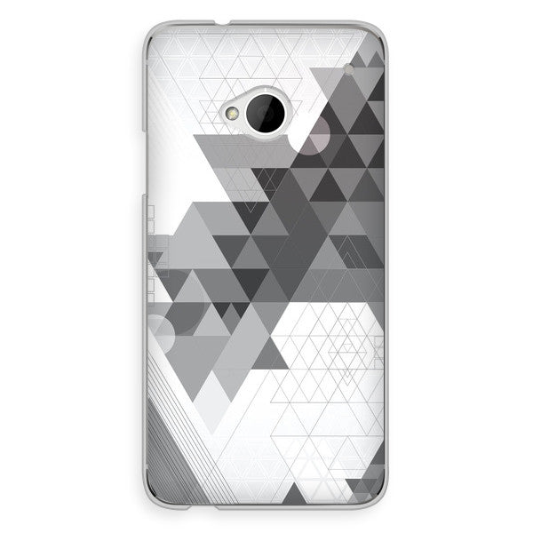 HTC One Gray Geometric Abstract Case