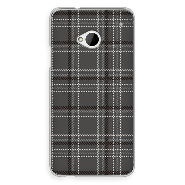 HTC One Black Gray Plaid Case - Plaid Carter Case