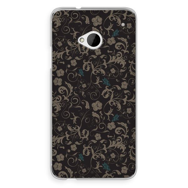 HTC One Black Blue Steampunk Floral Case - Duchess Darlington Case