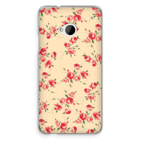 HTC One Ivory Floral Case - Duchess Devon Case