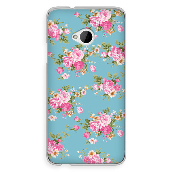 HTC One Blue Floral Case - Duchess Newbury Case