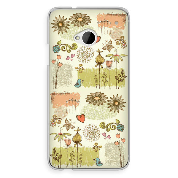 HTC One French Floral Case - Ashby Petit Jardin Case