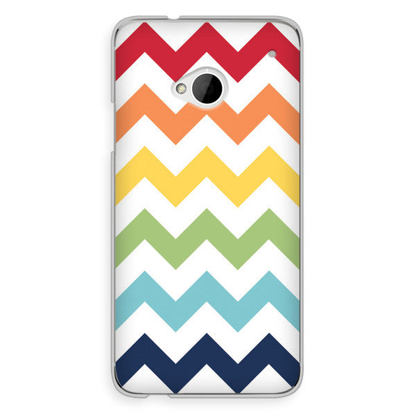 HTC One Rainbow Chevron Case