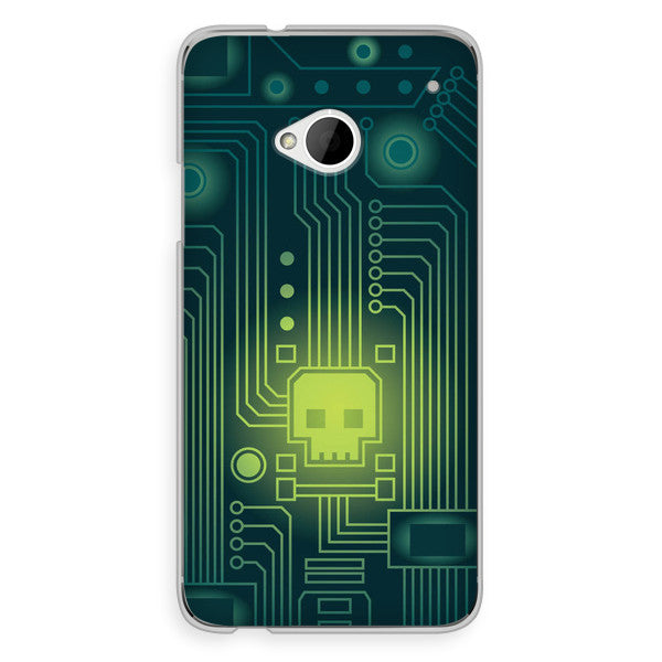 HTC One Skull Virus Case - Attack Viral Case