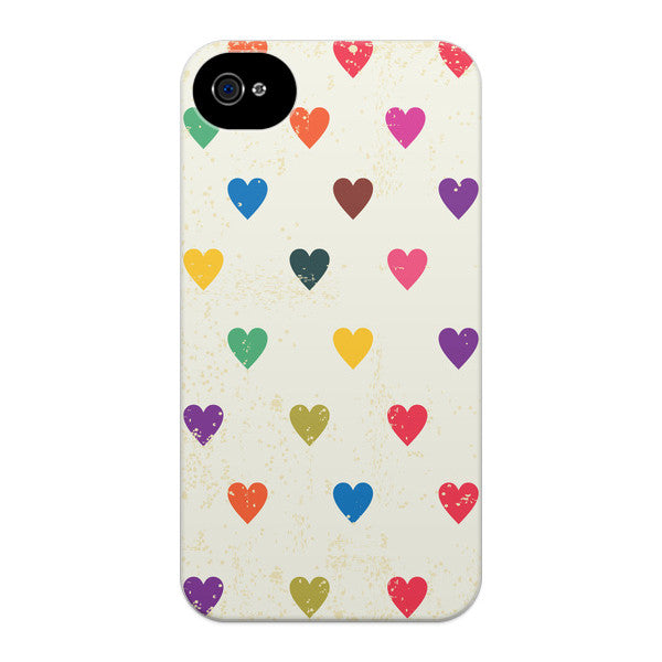 iPhone 4 and iPhone 4S Vintage Hearts Case