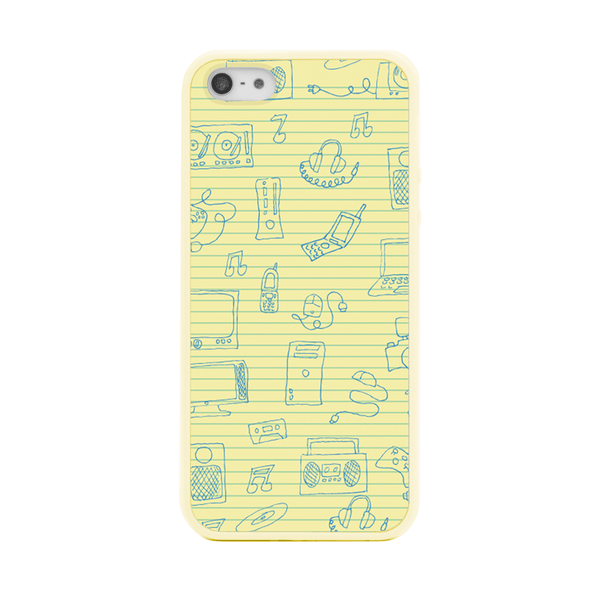 iPhone 5 and iPhone 5s Notepad Scribbles Doodles Bumper Case