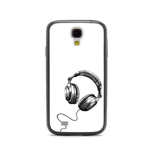 Samsung Galaxy S4 DJ Headphones Black Bumper Case