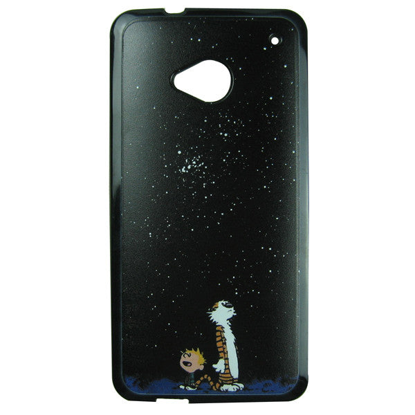 HTC One M7 Calvin and Hobbes Bumper Case