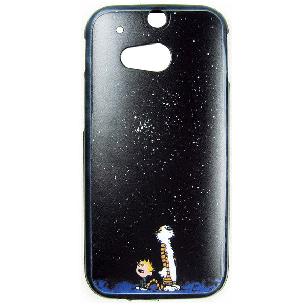 HTC One M8 Calvin and Hobbes Bumper Case