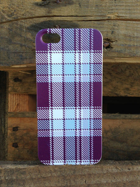 iPhone 5 Purple Plaid Case - Plaid Margot Case