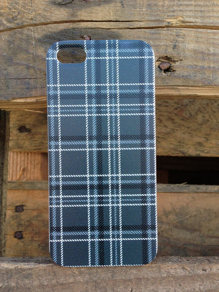 iPhone 5 and iPhone 5s Black Gray Plaid Case - Plaid Carter Case