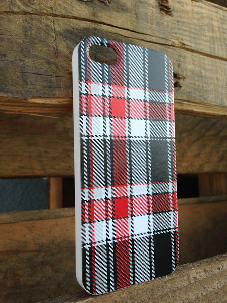 iPhone 5 Red & Black Plaid Case - Plaid Adrian Case