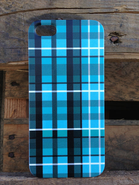 iPhone 5 Blue Plaid Case - Plaid Nathan Case