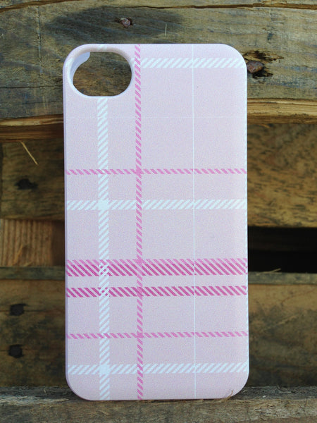 iPhone 4 and iPhone 4s Petal Pink Plaid Case - Plaid Claire Case