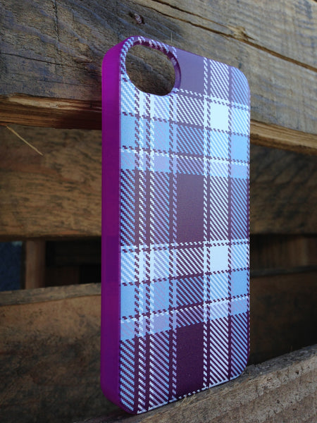 iPhone 4 and iPhone 4s Purple Plaid Case - Plaid Margot Case
