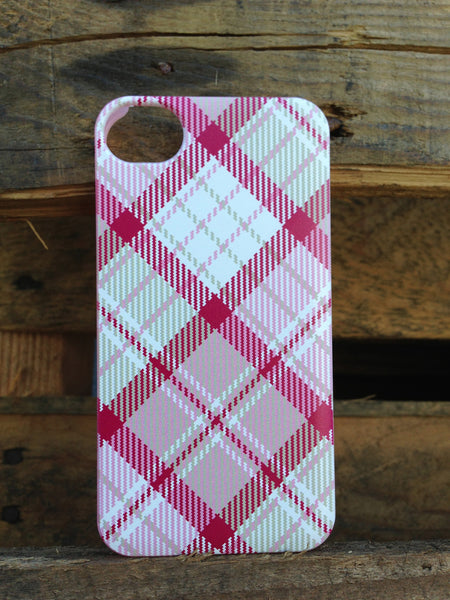 iPhone 4 and iPhone 4s Pink Plaid Case - Plaid Megan Case