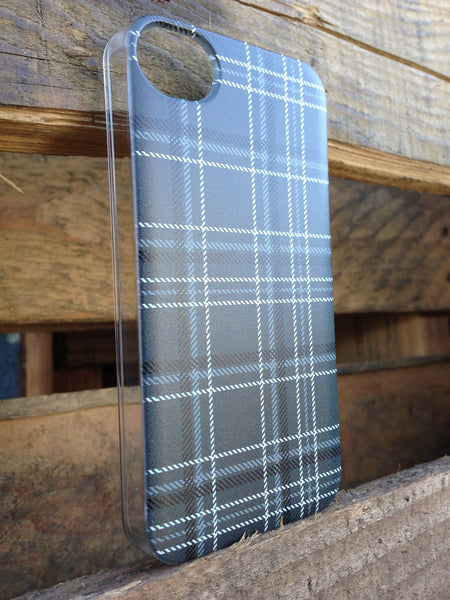 iPhone 4 and iPhone 4s Gray Plaid  Case - Plaid Carter Case