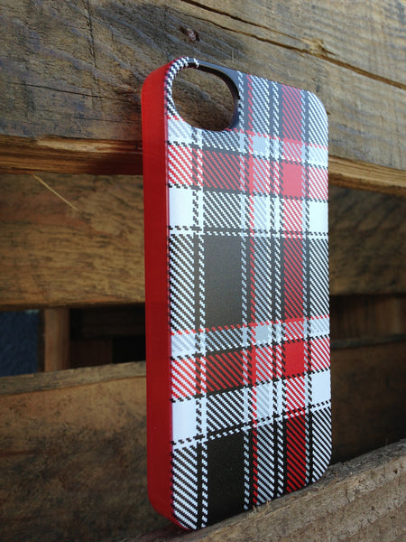 iPhone 4 and iPhone 4s Red Plaid Case - Plaid Adrian Case
