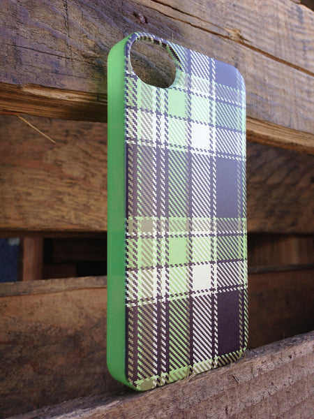 iPhone 4 and iPhone 4s Green Plaid Case - Plaid Ryan Case