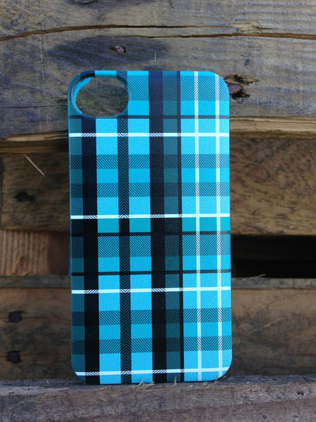 iPhone 4 and iPhone 4s Turqoise Plaid Case - Plaid Nathan Case