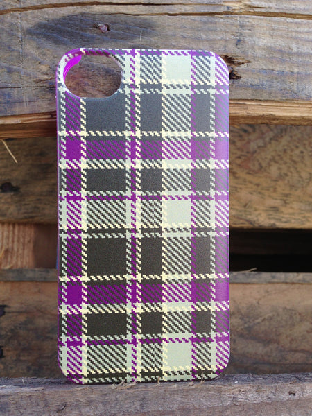 iPhone 4 and iPhone 4s Purple Olive Plaid Case - Plaid Micah Case