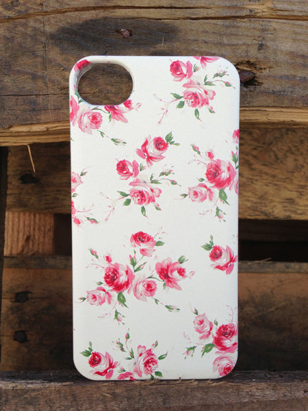 iPhone 4 and iPhone 4s Vintage Floral Yellow Case - Duchess Devon Case