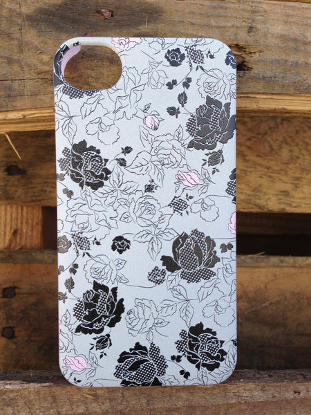 iPhone 4 and iPhone 4s Vintage Pink Gray Case - Duchess Burgess Case