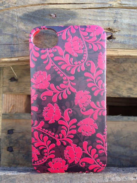 iPhone 4 and iPhone 4s Vintage Floral Red Case - Duchess Stafford Case