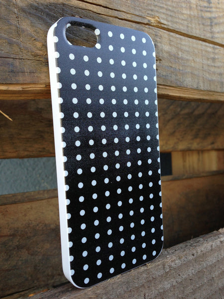 iPhone 5 Mini Polka Dots Black Case