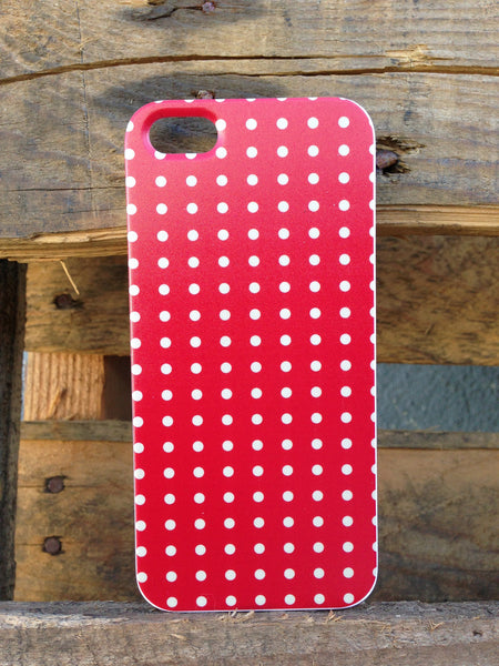 iPhone 5 Mini Polka Dots Red Case