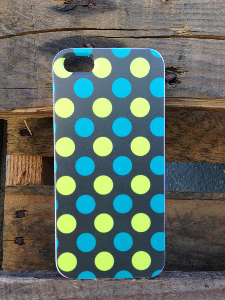 iPhone 5 Polka Dots Green Blue Case