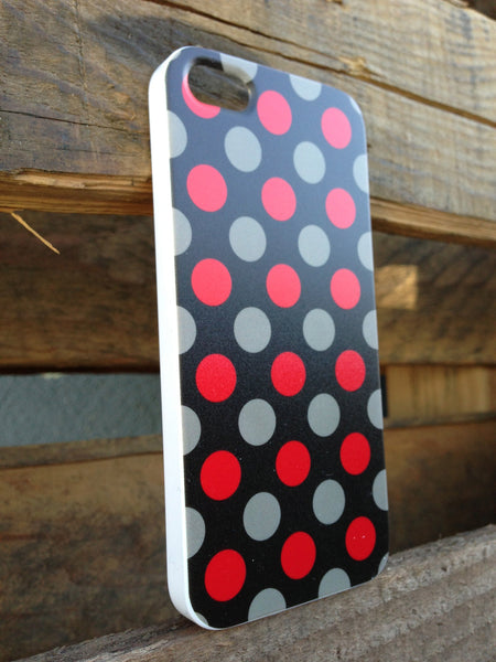iPhone 5 Polka Dots Red Brown Case