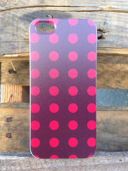 iPhone 5 Polka Dots Red Case