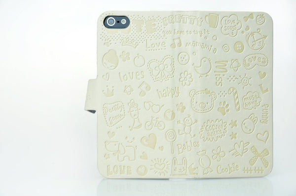 iPhone 4 and iPhone 4s White Magic Girl Wallet Flip Case