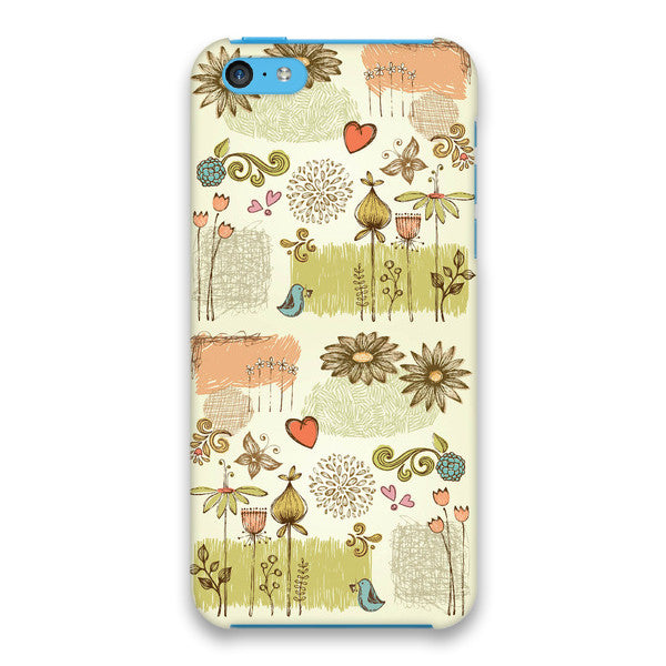 iPhone 5c French Floral Cap Case