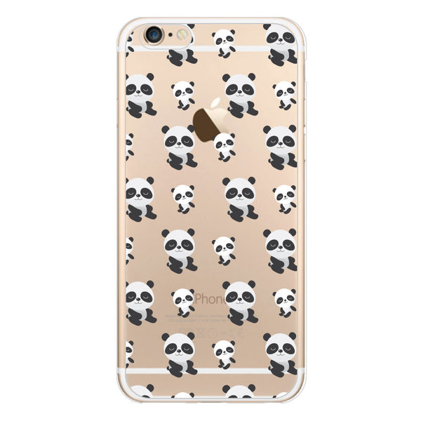 iPhone 6/6s and iPhone 6/6s Plus Pandas Clear Bumper Case