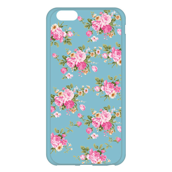 Blue Floral Case for iPhone 6 and iPhone 6 Plus