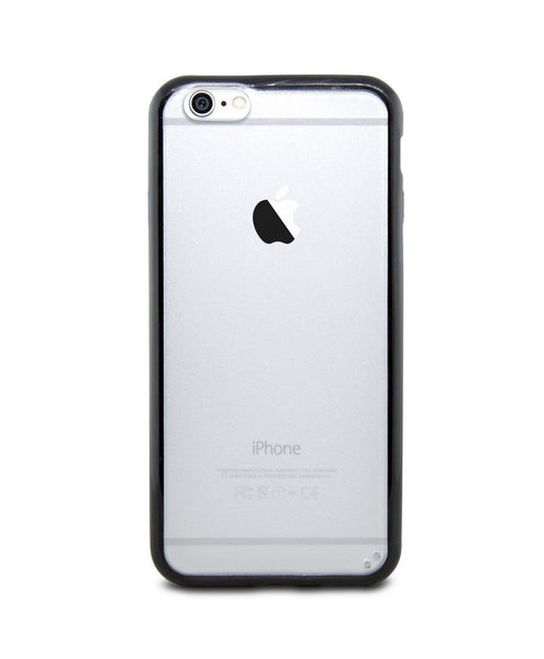 iPhone 6 and iPhone 6 Plus Black Bumper Frosted Case