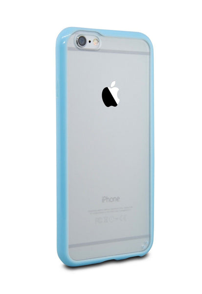 iPhone 6 and iPhone 6 Plus Blue Bumper Frosted Case