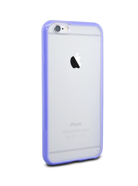 iPhone 6 and iPhone 6 Plus Purple Bumper Frosted Case
