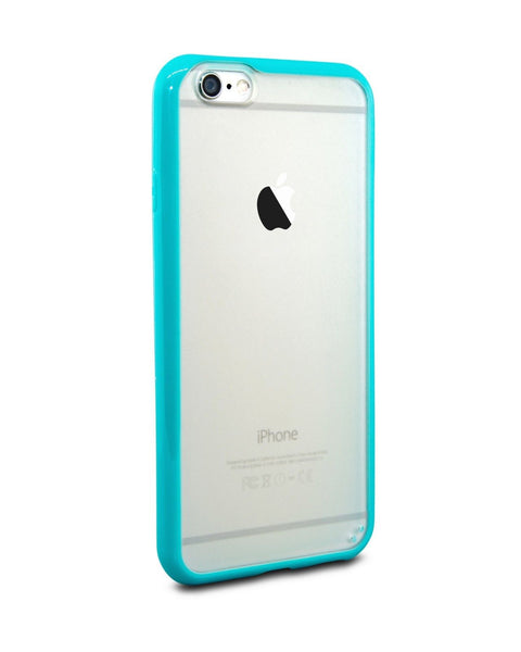 iPhone 6 and iPhone 6 Plus Turquoise Bumper Frosted Case