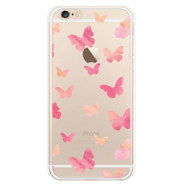 iPhone 7 and iPhone 7 Plus Butterfly Clear Bumper Case