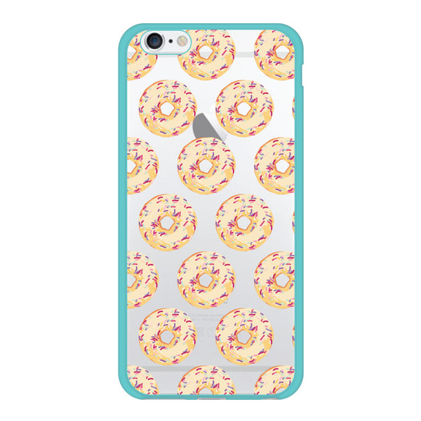 iPhone 6/6s and iPhone 6/6s Plus Donuts Rainbow Sprinkles Turquoise Bumper Case