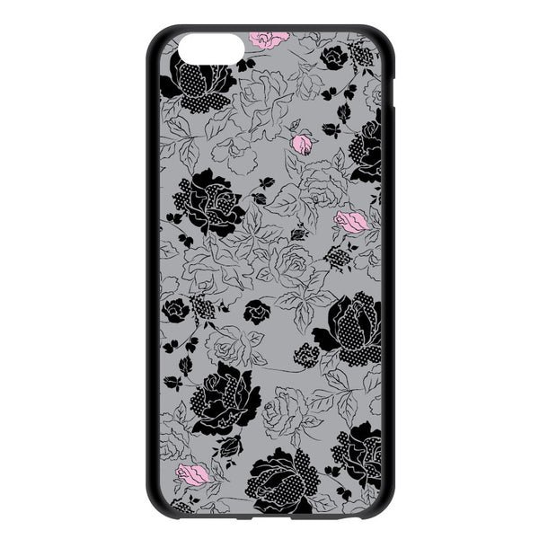 iPhone 6/6s and iPhone 6/6s Plus Gray Floral Bumper Case