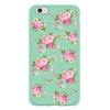 iPhone 6/6s and iPhone 6/6s Plus Mint Green Floral Bumper Case
