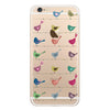 iPhone 6/6s and iPhone 6/6s Plus Rainbow Birds Bumper Case