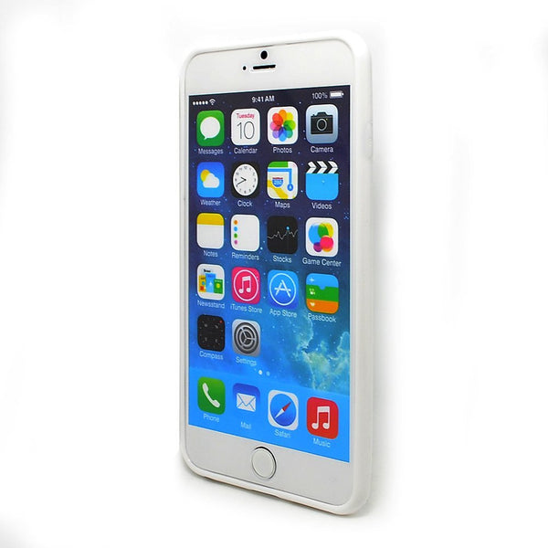 iPhone 6 and iPhone 6 Plus White Bumper Frosted Case