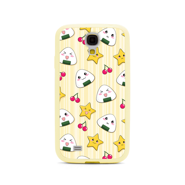 Samsung Galaxy S4 Musubi Onigiri Rice Ball Anime Yellow Bumper Case