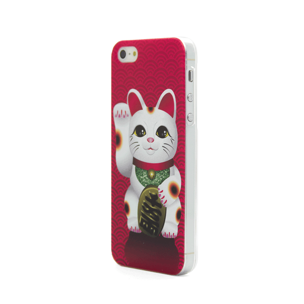 iPhone 5 Lucky Cat Japanese Maneki Neko Anime Case