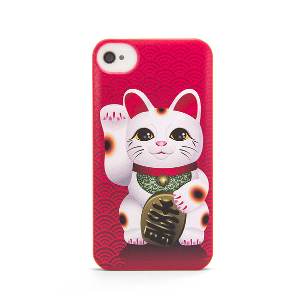iPhone 4 and iPhone 4s Lucky Cat Maneki Neko Anime Case